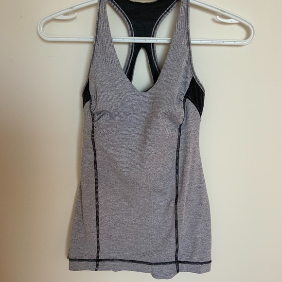 Lululemon tank top grey and white - size 4